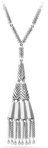 David Yurman Stax Fringe Pendant Necklace with Diamonds