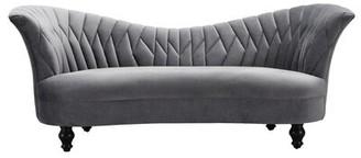 Eddie Curved Sofa Rosdorf Park Fabric: Gray