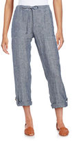 Lord & Taylor Roll-Up Linen Pants