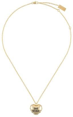 Marc Jacobs Heart Pendant Chain Necklace