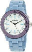 Sprout Men's ST/6500MPLB Light Blue Resin Bracelet Luminous Watch