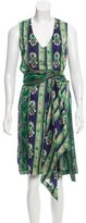 Dries Van Noten Abstract Print Knee-Length Dress