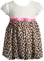 Youngland Baby Girl Cheetah & Crochet Lace Bubble Dress