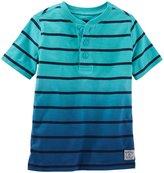 Osh Kosh Knit Polo (Toddler/Kid) - Turquoise Dip Dye - 2T