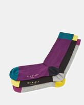 Ribbed Colour Block Sock Set