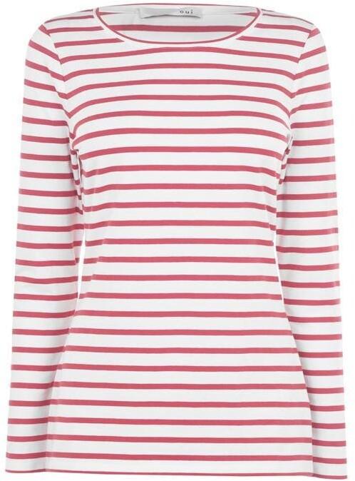 Oui Striped Long Sleeve T Shirt