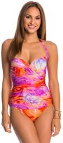 Gottex Clemence Molded Draped Bra Cup One Piece Swimsuit 48880