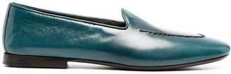 Henderson Baracco Embroidered Leather Loafers