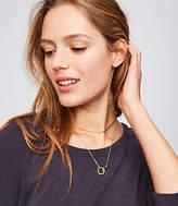 LOFT Linked Ring Layering Necklace Set