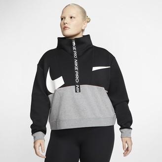 Nike Women's Fleece Top (Plus Size Pro Get Fit
