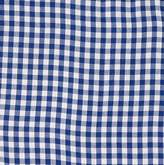 Redmon For Kids Collection Round Willow Hamper Gingham Liner, Navy