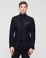 Tonal Tartan Slim Tailored Jacket