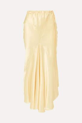 Ann Demeulemeester Silk-satin Midi Skirt - Gold