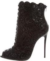 Christian Louboutin Rihanini Peep-Toe Booties
