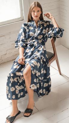 Apiece Apart Gracia Flamenca Silk Dress