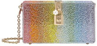 Dolce & Gabbana Rainbow Rhinestones Box Clutch