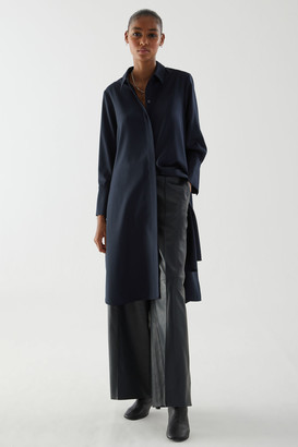 Cos Wool Mix Shirt Dress