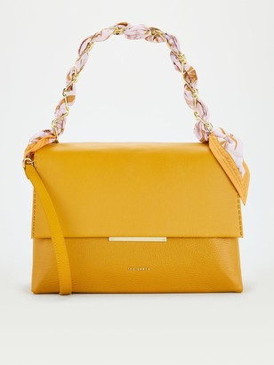 Ted Baker Scarf Chain Bar Detail Shoulder Bag - Yellow