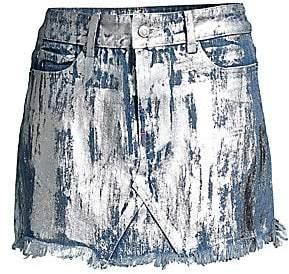 Frankie B. Women's Cindy Denim Mini Skirt