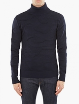 S.n.s. Herning Navy Textured Wool Sweater