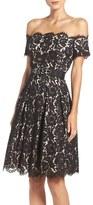 Eliza J Petite Women's Embellished Lace Fit & Flare Dress