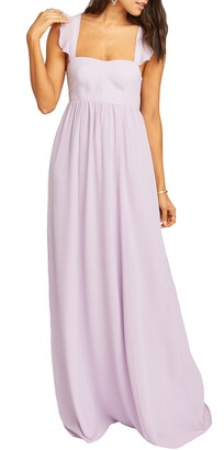 Show Me Your Mumu June Ruffle Strap A-Line Gown