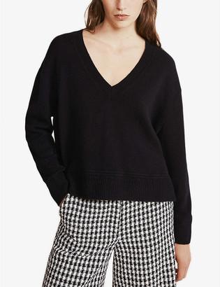Claudie Pierlot Maiwenn V-neck knitted jumper