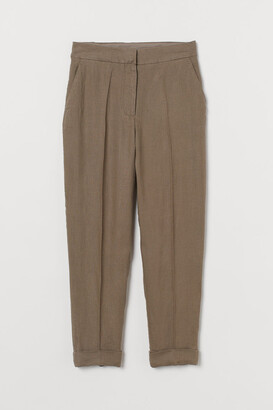 H&M Linen Suit Pants - Beige