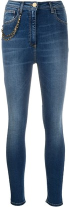 Elisabetta Franchi High-Waisted Skinny Jeans