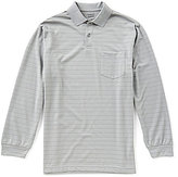 Roundtree & Yorke Travel Smart Long-Sleeve Stripe Pocket Polo