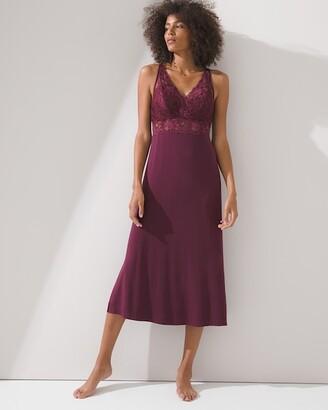 Soma Intimates Lace Trim Midi Gown