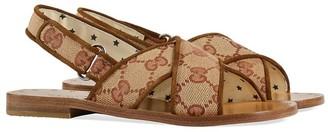 Gucci Kids GG Supreme sling-back sandals