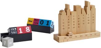 Moma Wooden Perpetual Cities Calendar