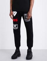 Kokon To Zai Logo-patch cotton-jersey jogging bottoms