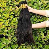 Yavida Hair Brazilian Virign Bulk Straight Human Hair for Braiding 100% Unprocessed Human Braid Hair Bulk No Weft Natural Color 26 Inch Total 500g