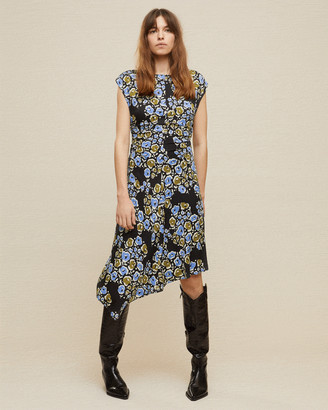 Jigsaw Graphic Poppy Ruched Dress