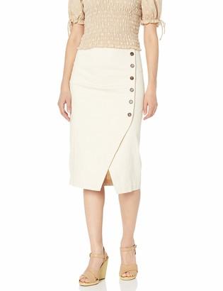 ASTR the Label Women's Eileen HIGH Waisted Straight Pencil Skirt