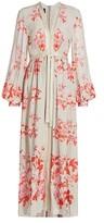 Giambattista Valli Rope-Tie Floral Silk Gown