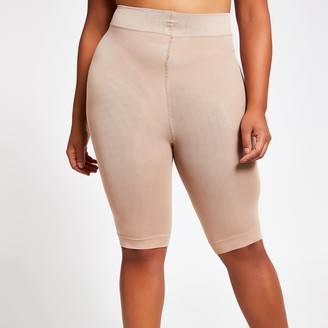River Island Womens Beige 90 denier plus size anti chafing shorts