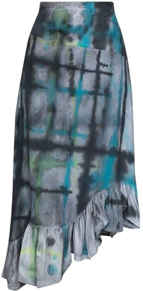 Collina Strada Michi asymmetric tie-dye skirt