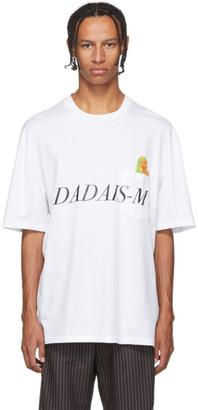 Christian Dada White Signal Noise Print T-Shirt