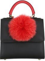 Les Petits Joueurs Mini Alex Pompom Leather Top Handle Bag