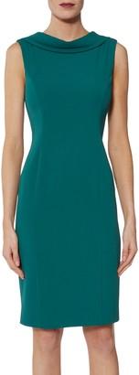 Gina Bacconi Stephanie Roll Collar Dress