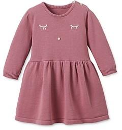 Elegant Baby Girls' Embroidered Wink Dress - Baby