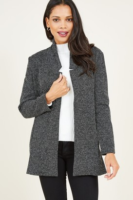 Yumi Grey Textured Jacket
