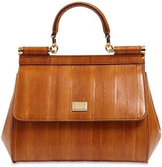 Dolce & Gabbana Small Sicily Eel Skin Bag