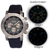 Equipe Tritium Tube Men's Circle Watch Primary Color: Silver /