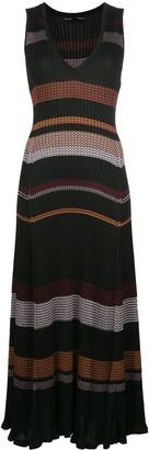 Proenza Schouler Zig Zag Stripe Knitted Dress