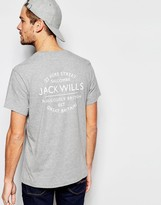 Jack Wills T-shirt With Back Print