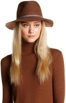 David & Young Ikat Band Wool Felt Panama Hat